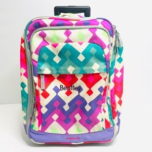 Lands End Girls Carryon Soft Sided Suitcase